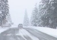 Ce drumuri din Gorj sunt acoperite de zăpadă