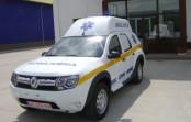 Duster, transformat în ambulanță