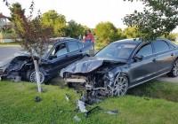 Cum arată mașina soției afaceristului târgujian Alin Ionescu după accident