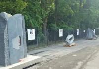 Sculpturi amplasate ilegal în Târgu Jiu