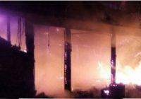 Foișorul casei primarului Pigui, făcut scrum într-un incendiu