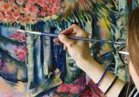 Doi artiști, tată și fiică, expun sculpturi și picturi deosebite la Târgu-Jiu