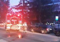 VIDEO Incendiu la hotelul din Târgu Cărbunești. Trei persoane au avut nevoie de ajutor medical