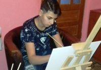"""Iulian Dovlete de la CT Motru, elev foarte talentat la desen: """"Vreau să ajung arhitect!"""""""