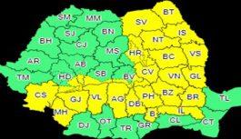 Cod Galben în județul Gorj. Ce fenomene meteorologice vor avea loc în următoarele două zile